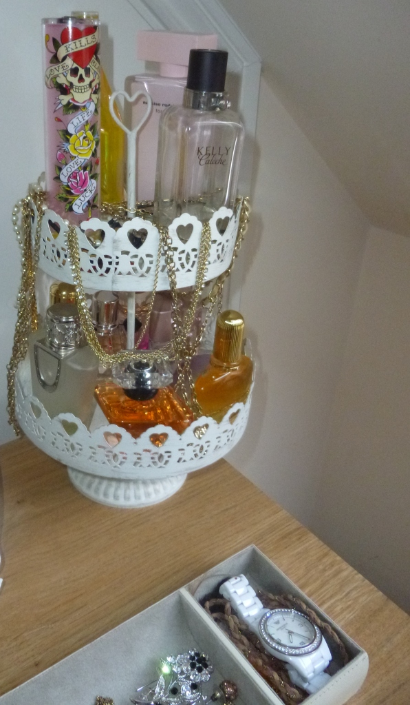 two tiered  tray, organiser, vanity, perfume holder