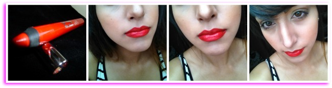 Rouge Barry M lips, coral cheeks and Loreal eye primer