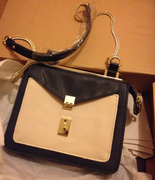 Zara navy blue side bag