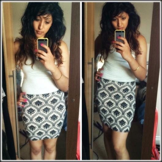 Forever 21 skirt and vest